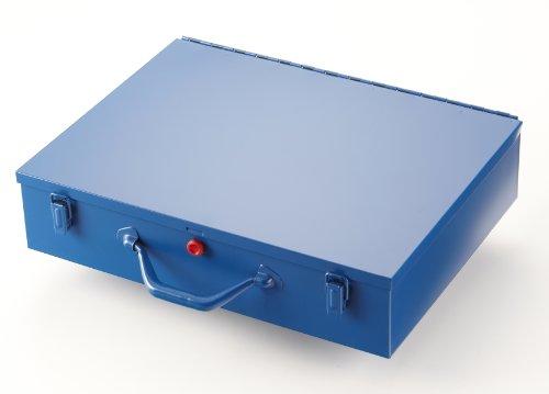 Kleinteilekoffer, Stahlblech, EuroPlus Metall 44/59x45, blau, 59 Einsätze, dicht schließend