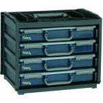 raaco HandyBox, bestückt, 55 x 4, schwarz, 136242